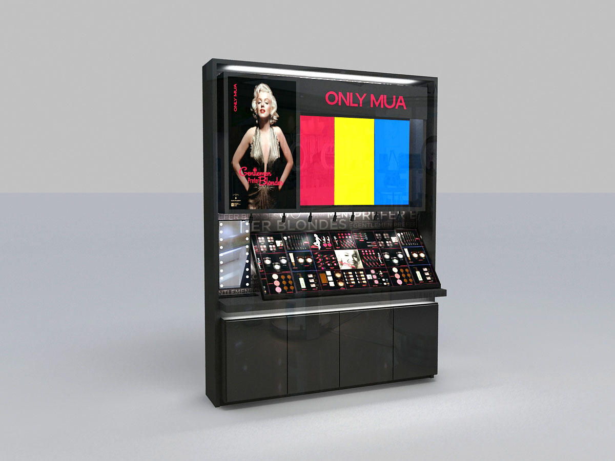 Best makeup display stand backside suppliers for showroom-2