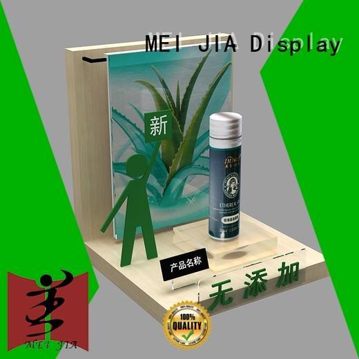 custom acrylic display stands cosmetics for shoppe MEI JIA Display