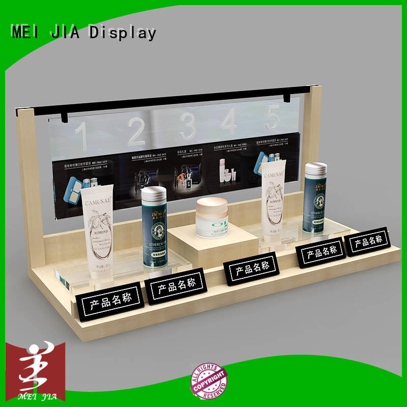 MEI JIA Display body care custom acrylic display stands holder for shop