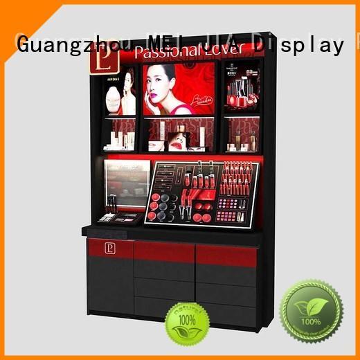 MEI JIA Display wall acrylic cosmetic display stand supply for showroom