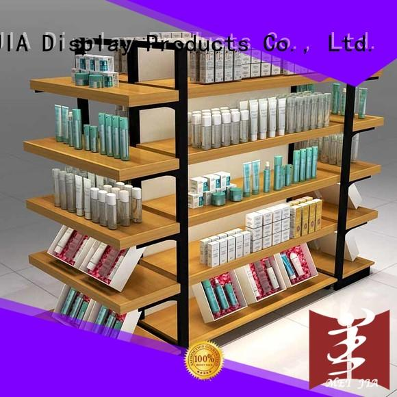 MEI JIA Display customized makeup display stand for brand for shop
