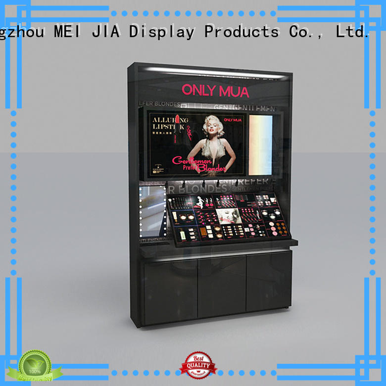 Best makeup display stand backside suppliers for showroom