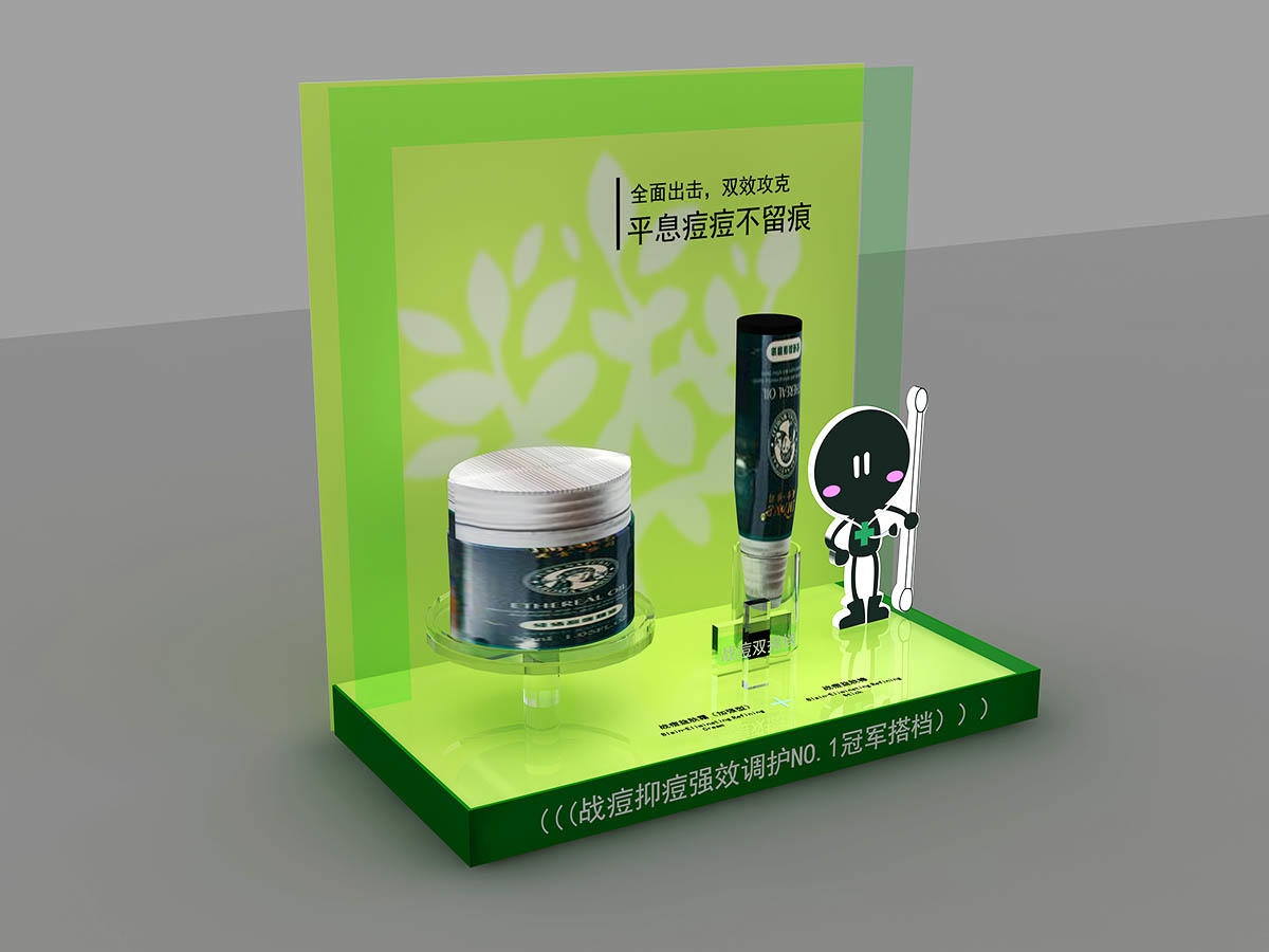 MEI JIA Display Custom cosmetics acrylic display supply for counter