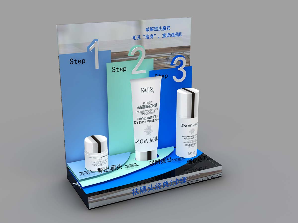 MEI JIA Display Custom cosmetics acrylic display supply for counter-3