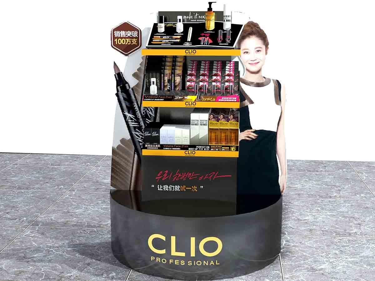 acrylic beauty display stands with hook for showroom MEI JIA Display