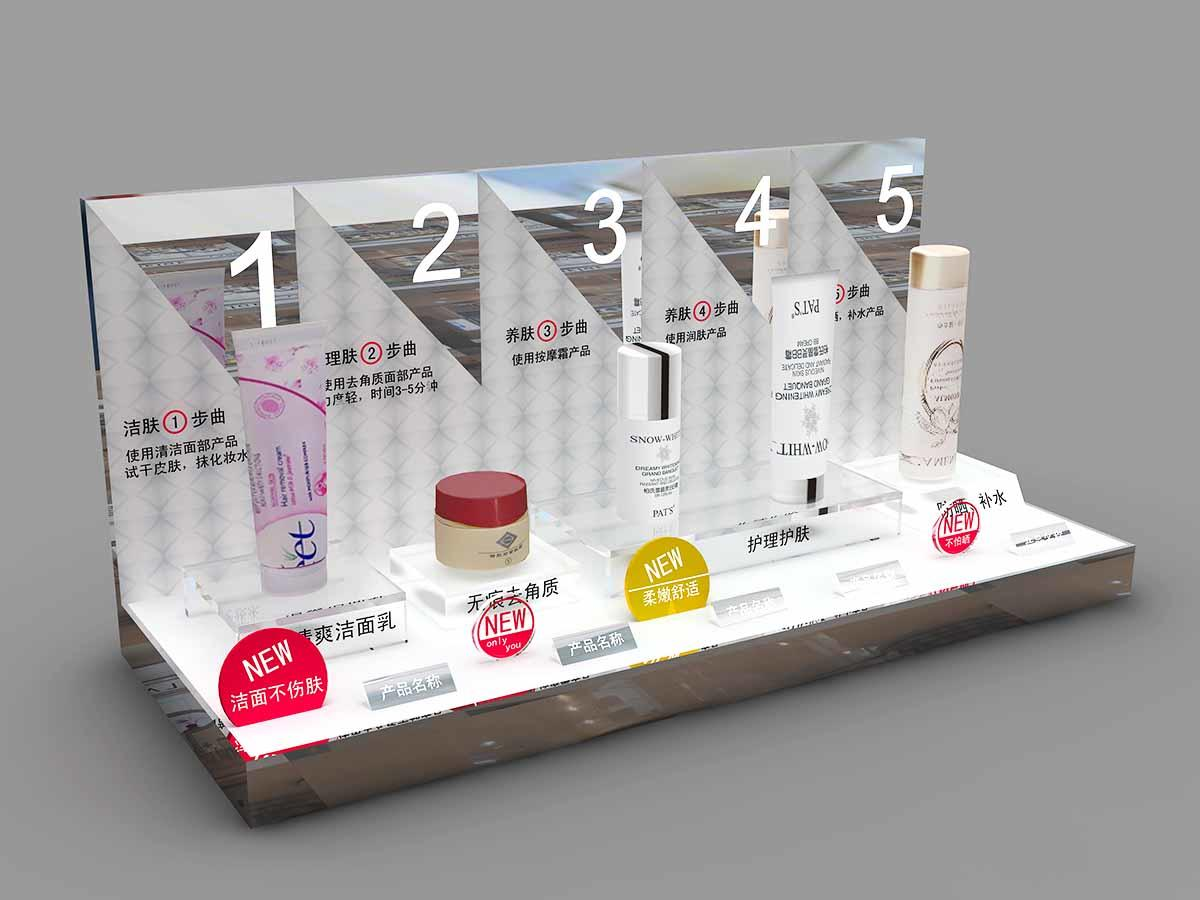Latest cosmetics acrylic display table supply for store