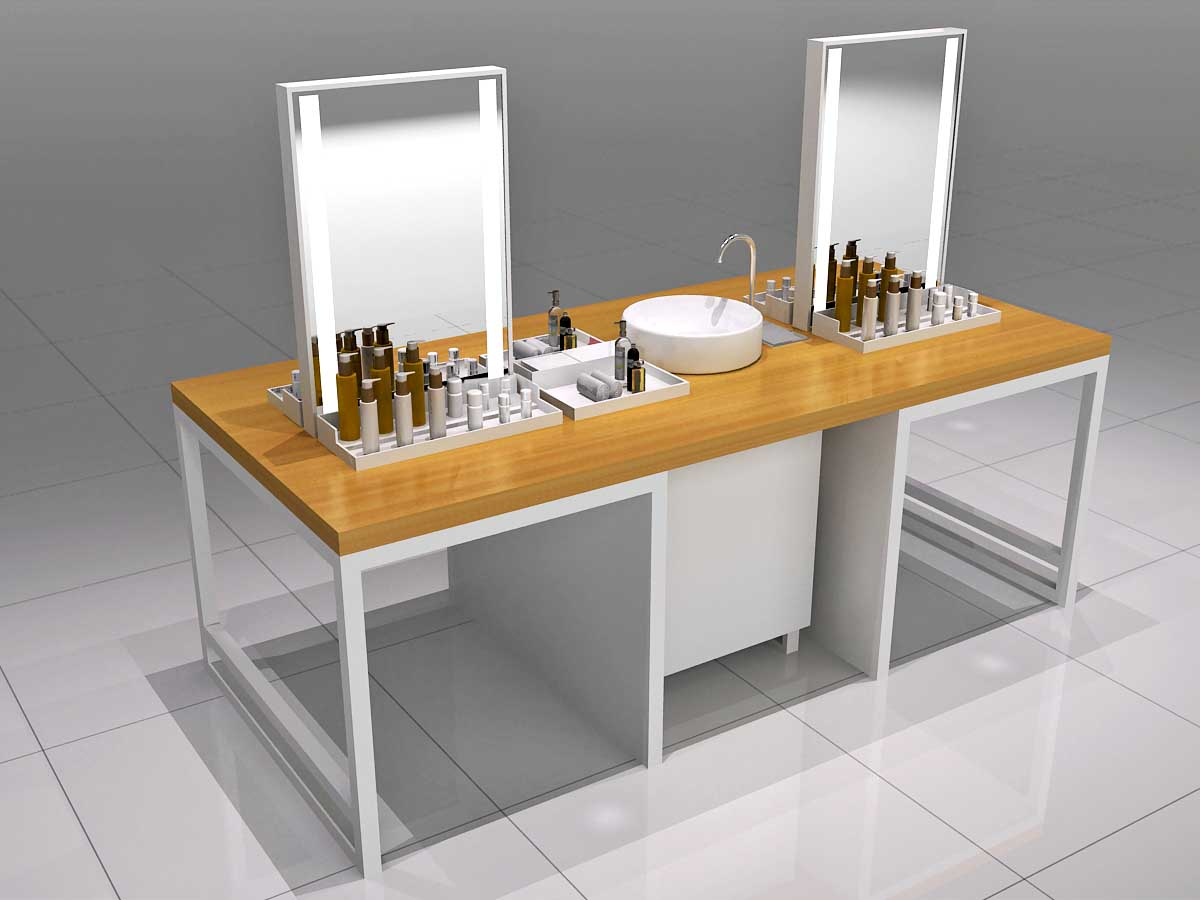 MEI JIA Display counter acrylic makeup display suppliers for exclusive shop-1