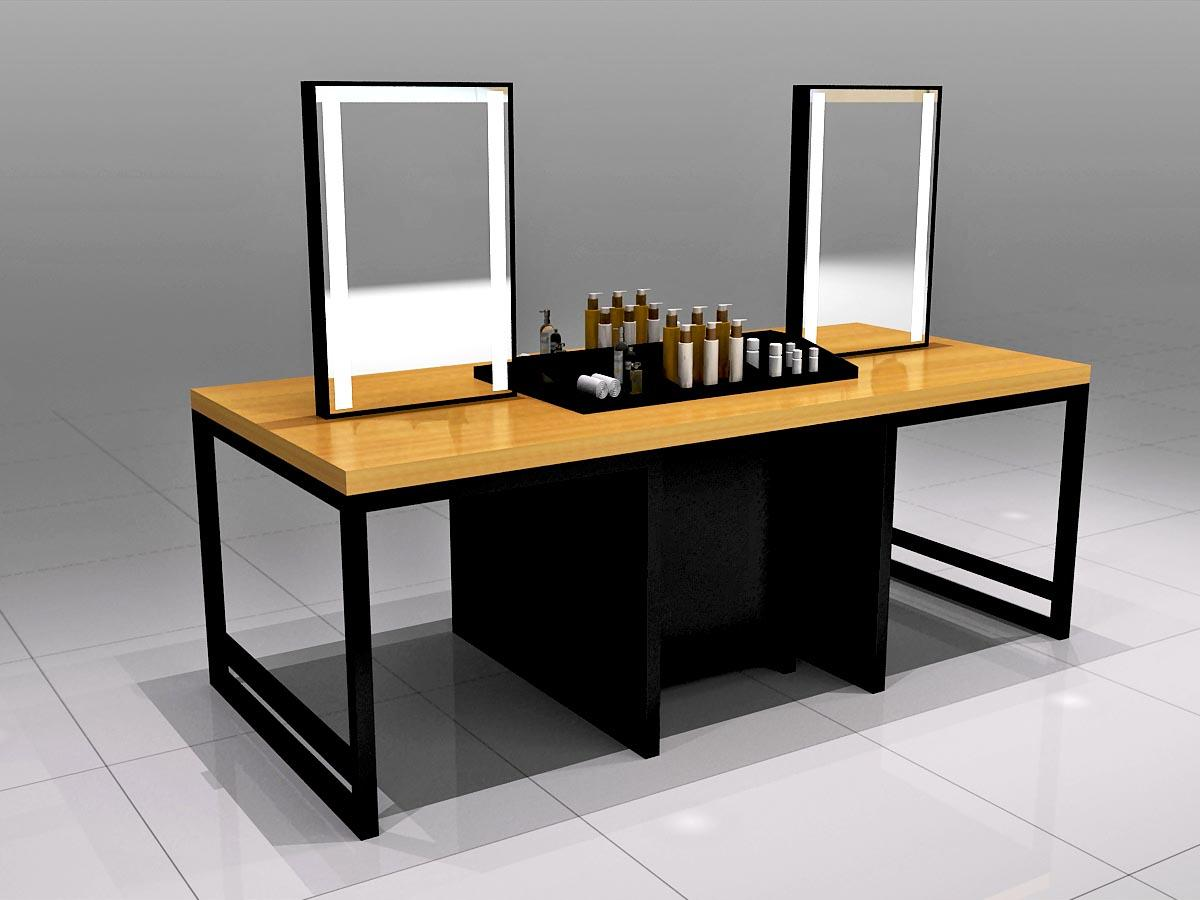 customized makeup display shelves cabinet for shop MEI JIA Display