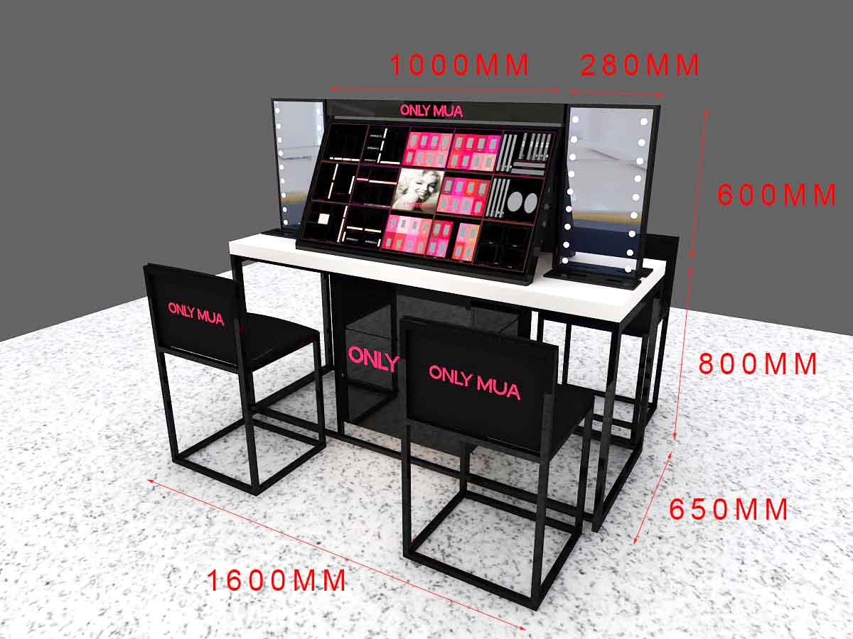 MEI JIA Display counter acrylic makeup display suppliers for exclusive shop-3