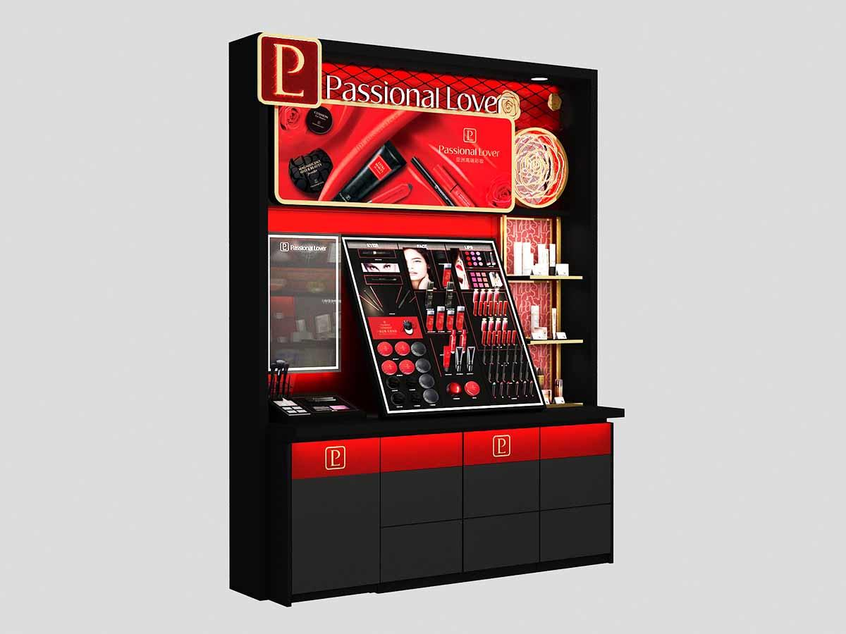 Custom retail makeup display stand skin suppliers for showroom