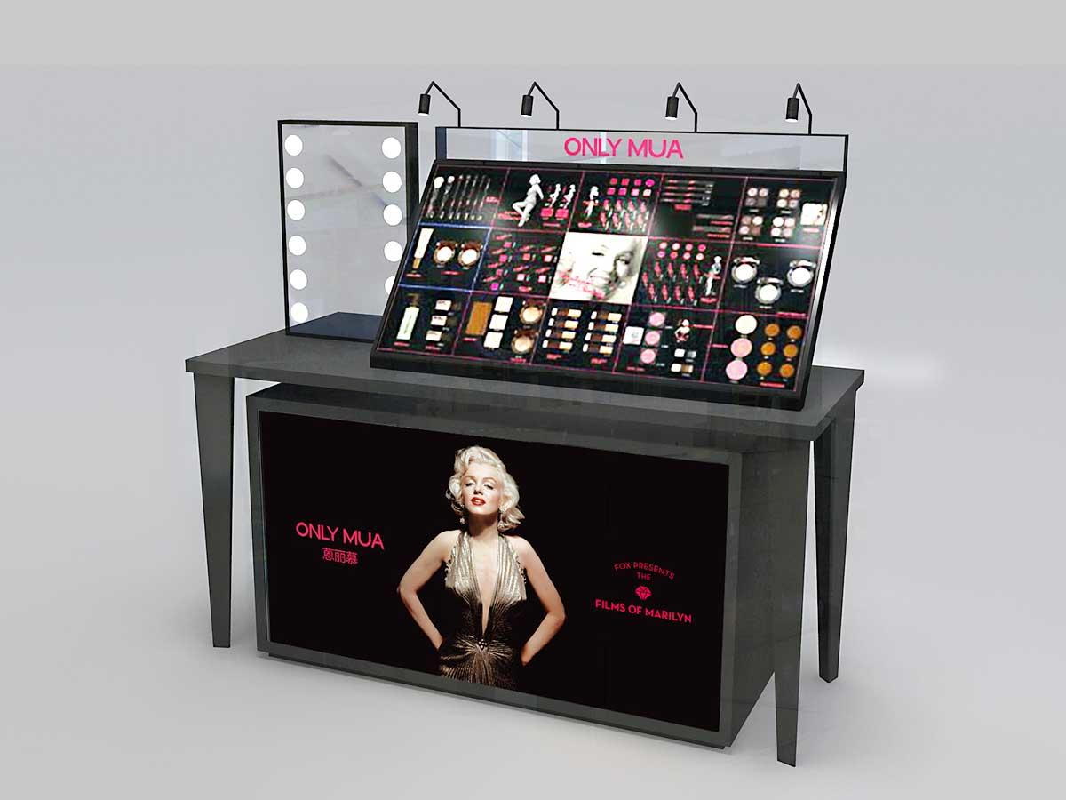 Makeup Brand Display Counter