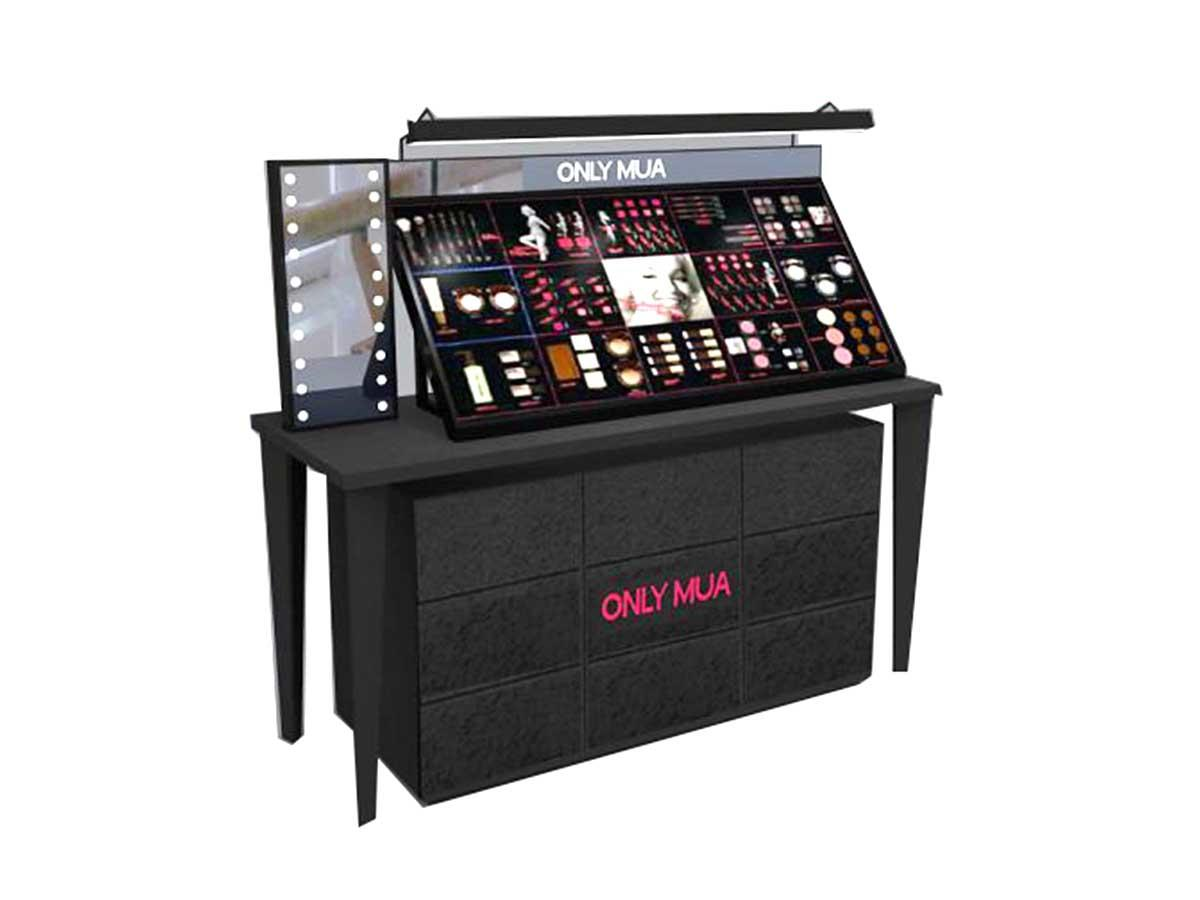 Latest makeup display stand try factory for shoppe