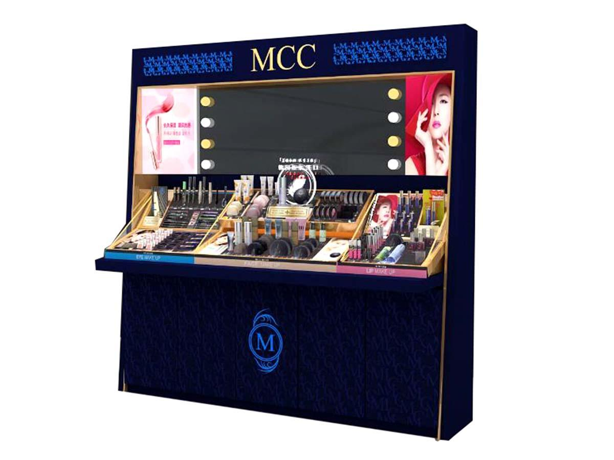 MEI JIA Display brand cosmetic showcase company for showroom