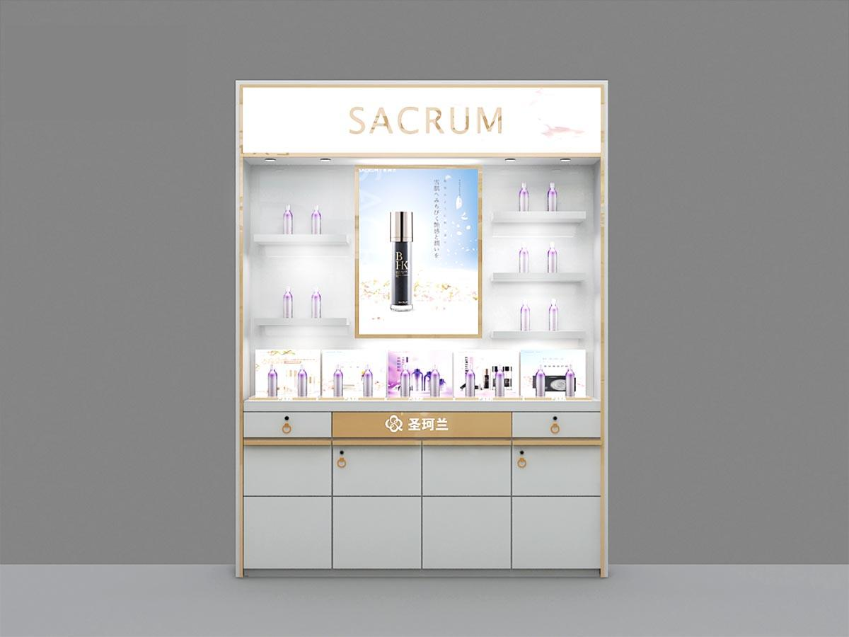 fashional cosmetic display cabinet skin for brand for showroom