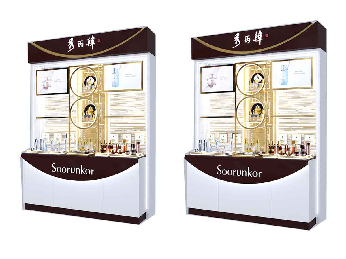 fashional cosmetic display cabinet skin for brand for showroom-4