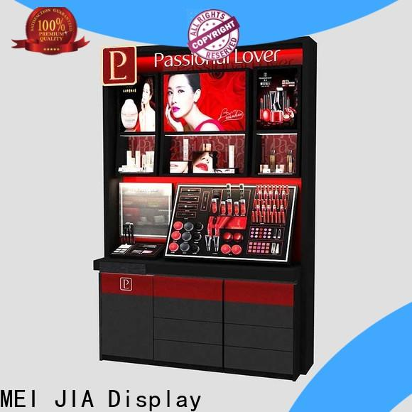 MEI JIA Display table retail makeup display stand company for shoppe