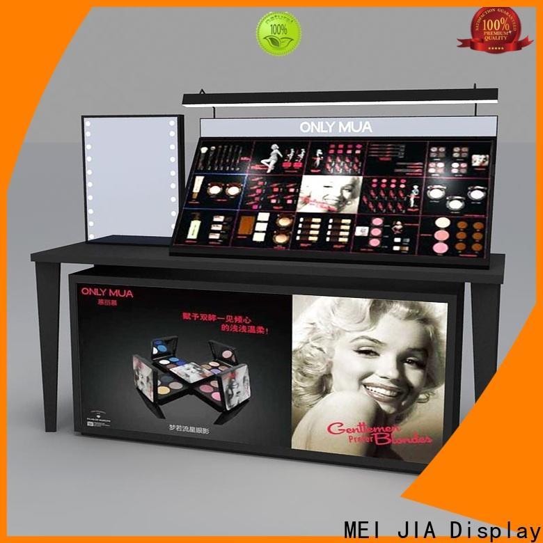 Custom cosmetic product display showcase company for shoppe