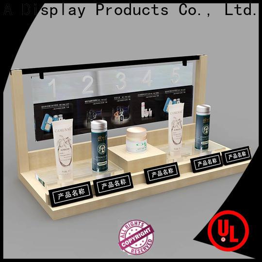 Custom makeup retail display wall company for shoppe