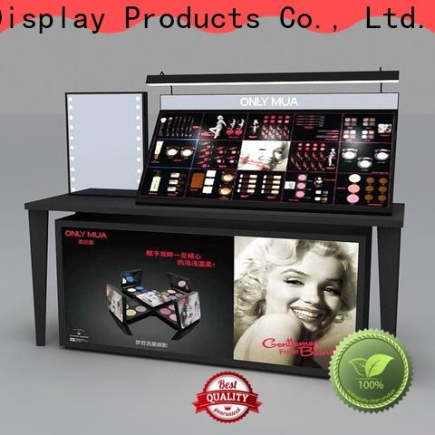Custom retail makeup display stand table supply for exclusive shop