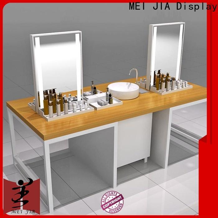 MEI JIA Display shelves retail makeup display stand company for showroom