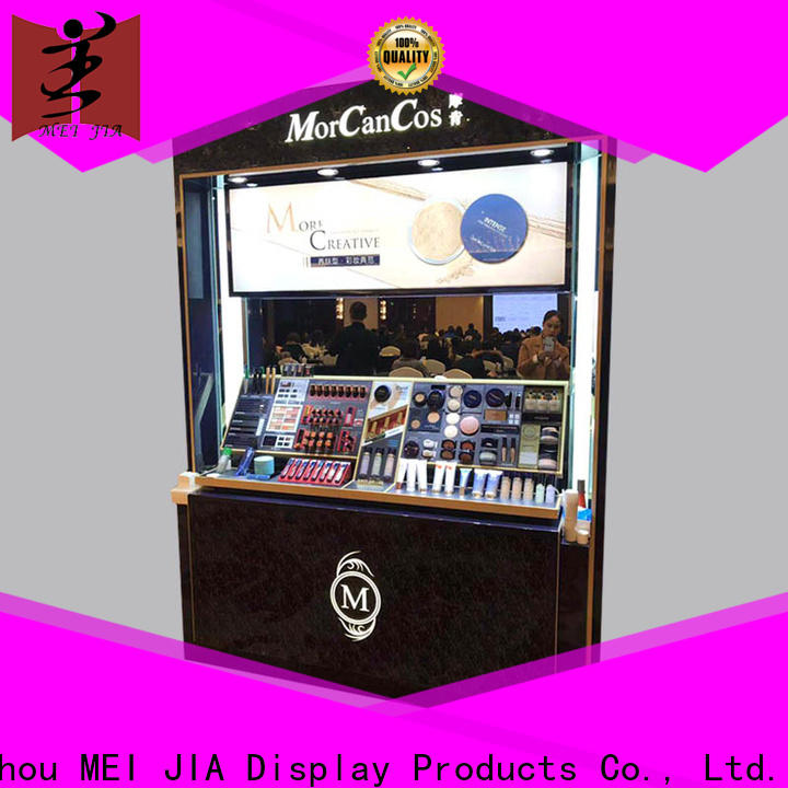 Latest makeup display stand wall company for store