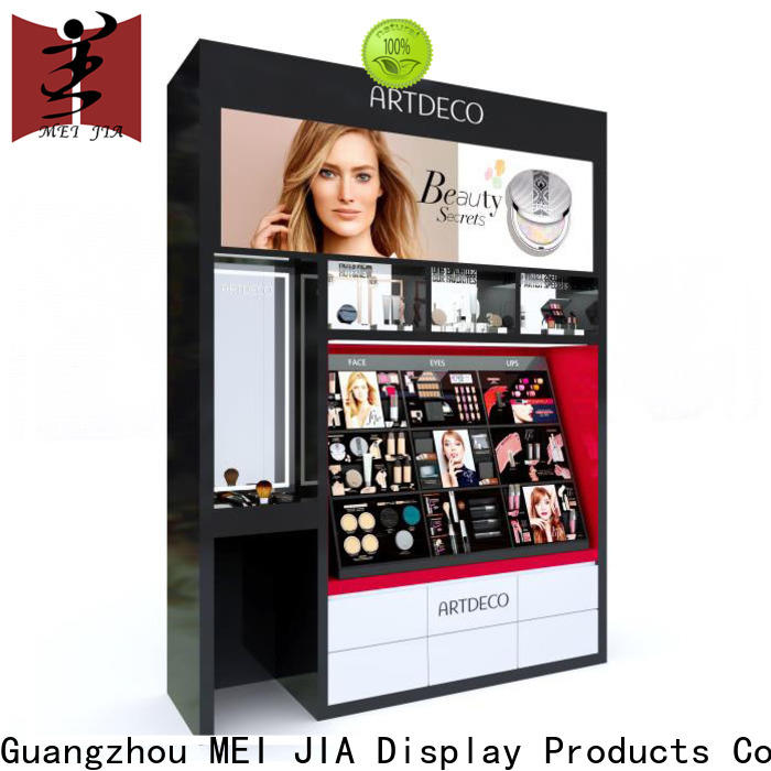 Custom cosmetic showcase wall suppliers for shop