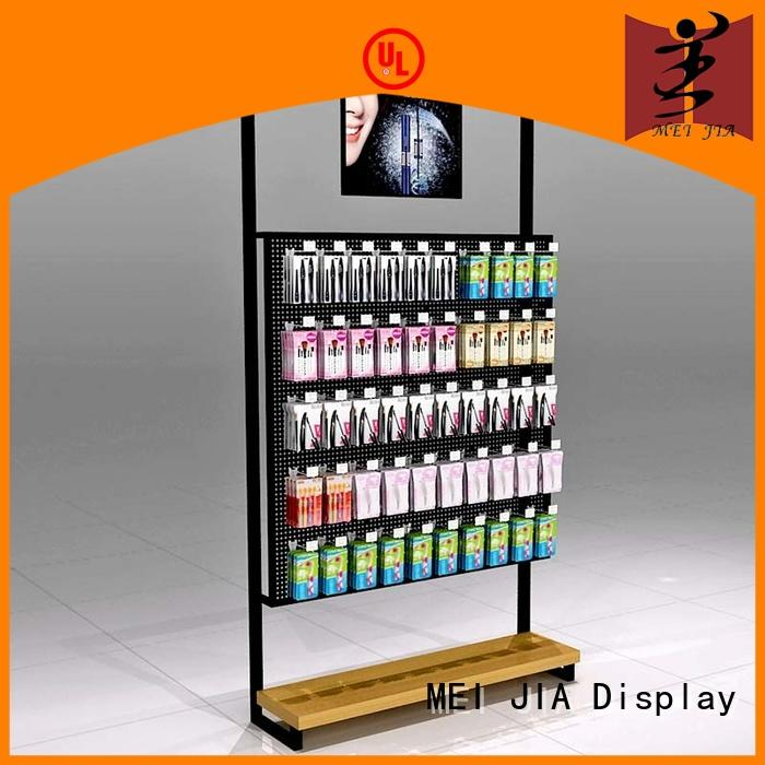 MEI JIA Display cosmetic retail makeup display stand cabinet for shop