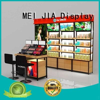 MEI JIA Display wood acrylic makeup display suppliers for exclusive shop