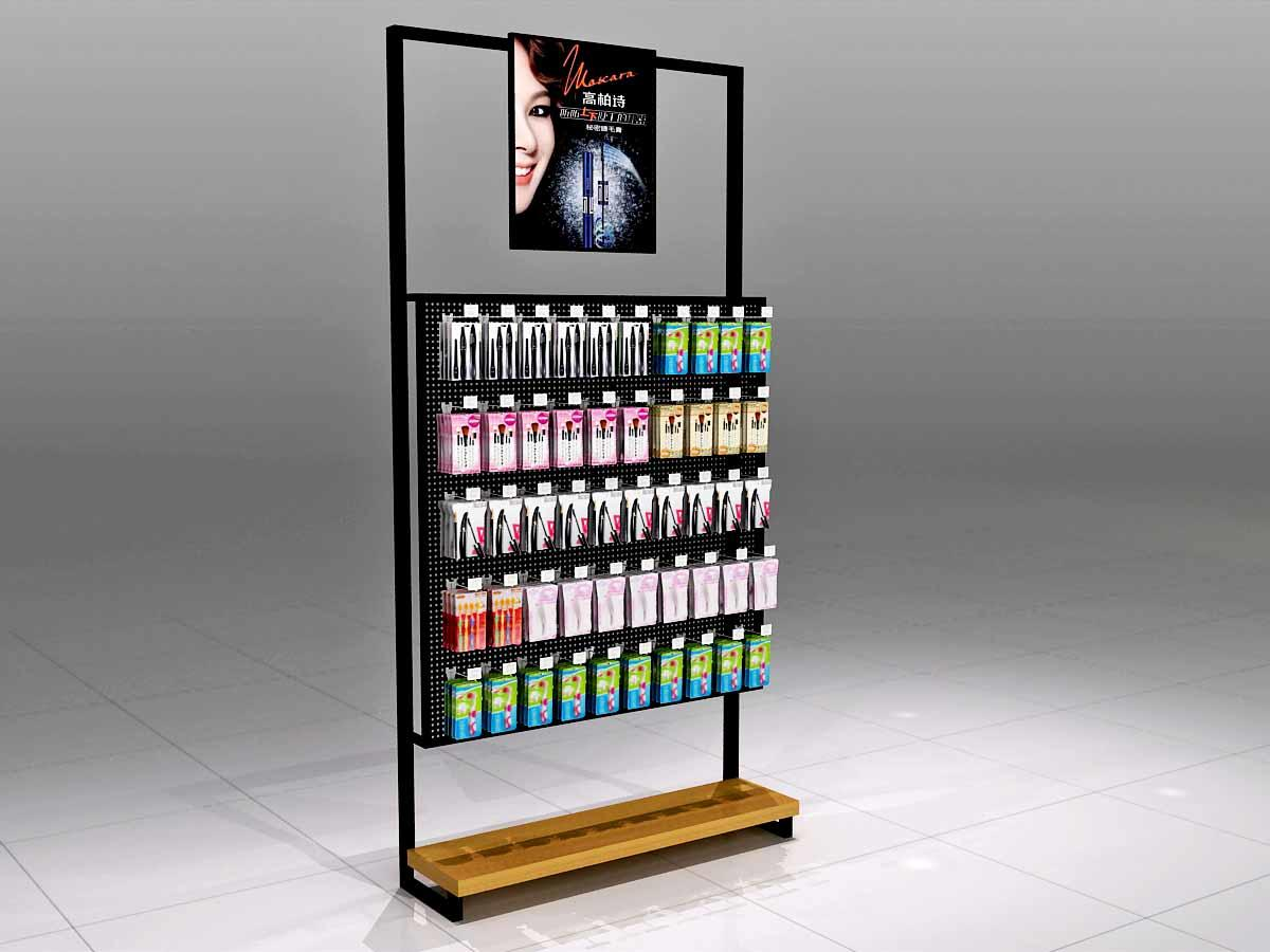 Cosmetics Display Shelves with Hook-2