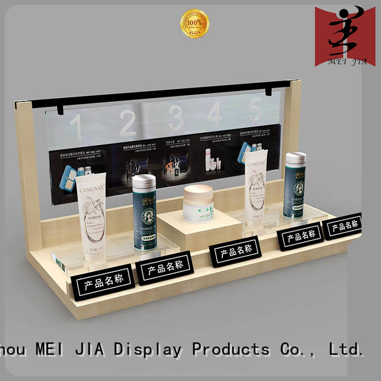 MEI JIA Display cosmetic cosmetics display shelves backside for exclusive shop