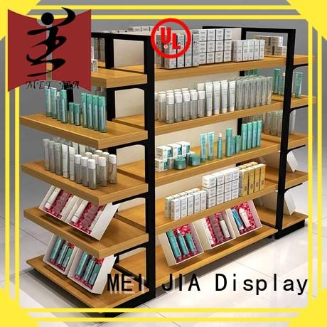 body care makeup display stand wood manufacturer for showroom