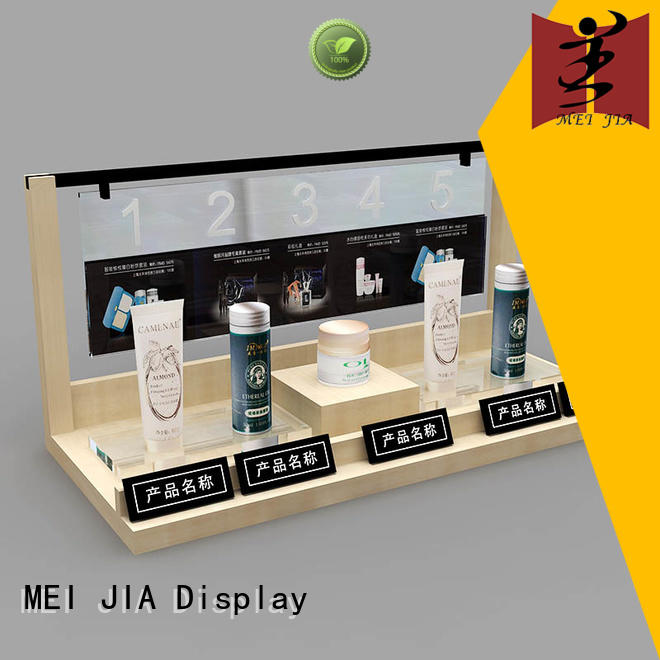MEI JIA Display fashional makeup retail display with hook for store