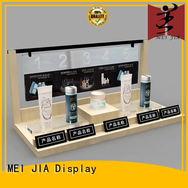 MEI JIA Display retail makeup display stand cabinet for shoppe