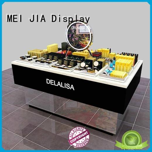 MEI JIA Display table retail makeup display stand suppliers for showroom