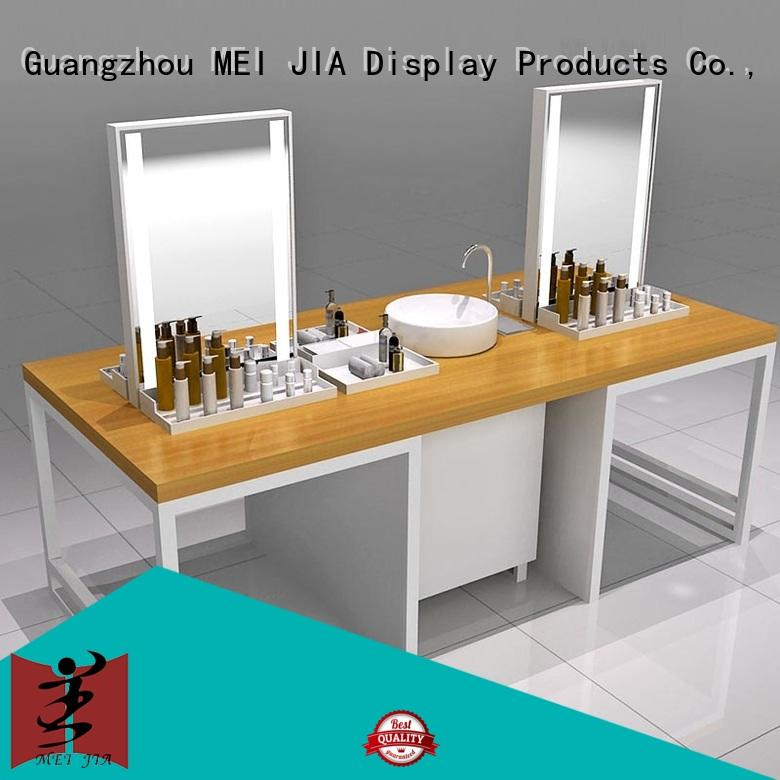 counter acrylic makeup holder cabinet for showroom MEI JIA Display