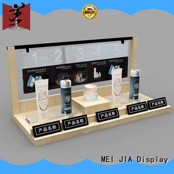 MEI JIA Display attract attention acrylic cosmetic display stand cosmetic for exclusive shop