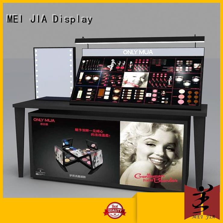 MEI JIA Display backside acrylic cosmetic display stand suppliers for shoppe