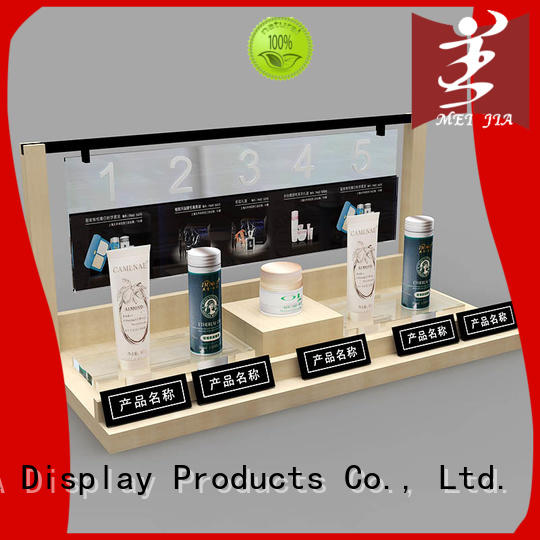 MEI JIA Display popular cosmetic retail display stand for shoppe