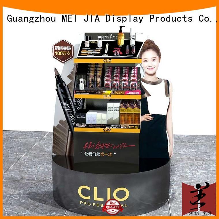 backside acrylic makeup holder cabinet for exclusive shop