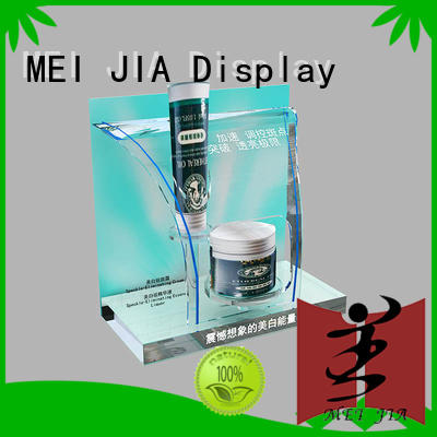 customized acrylic makeup holder with hook for counter MEI JIA Display