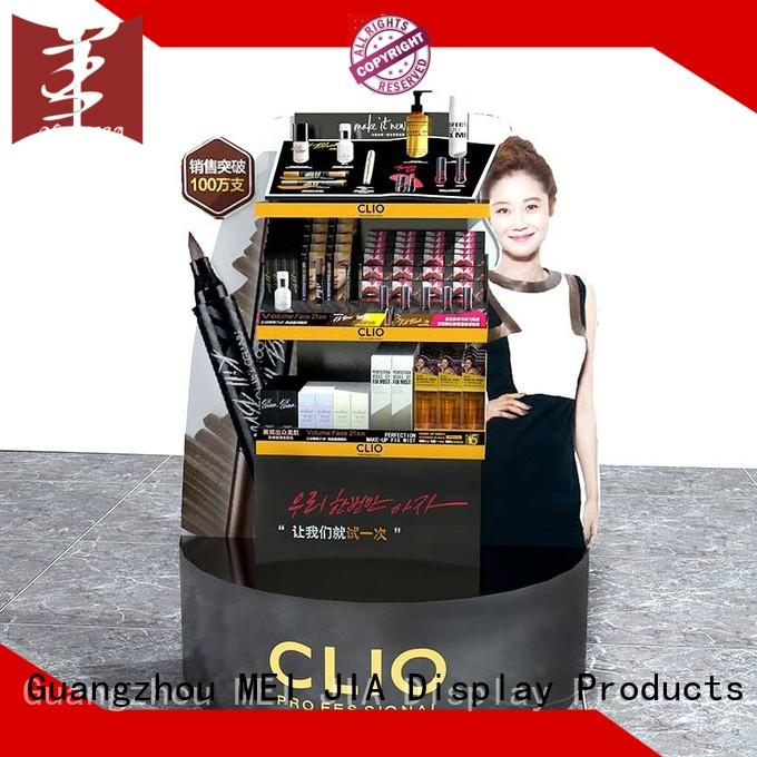 counter cosmetics display shelves for brand for shoppe MEI JIA Display