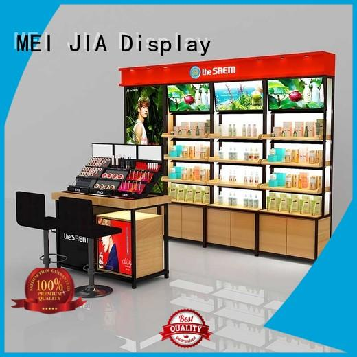 MEI JIA Display brand cosmetic showcase company for exclusive shop