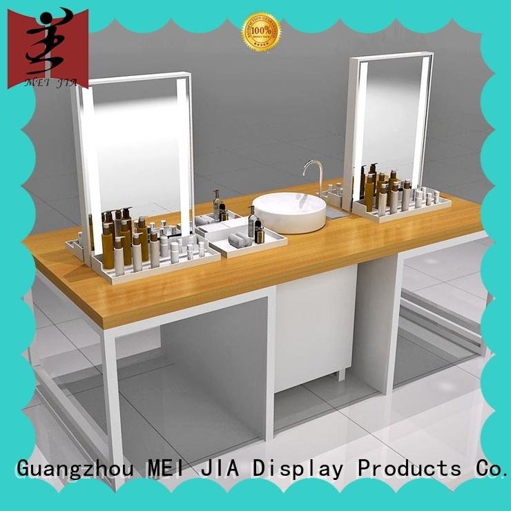 attract attention makeup display stand with hook for showroom MEI JIA Display