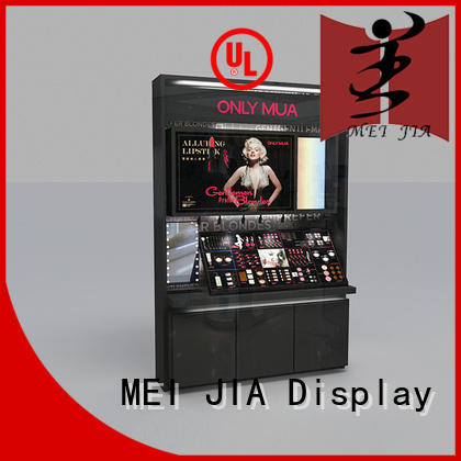 MEI JIA Display body care acrylic makeup display with hook for shop
