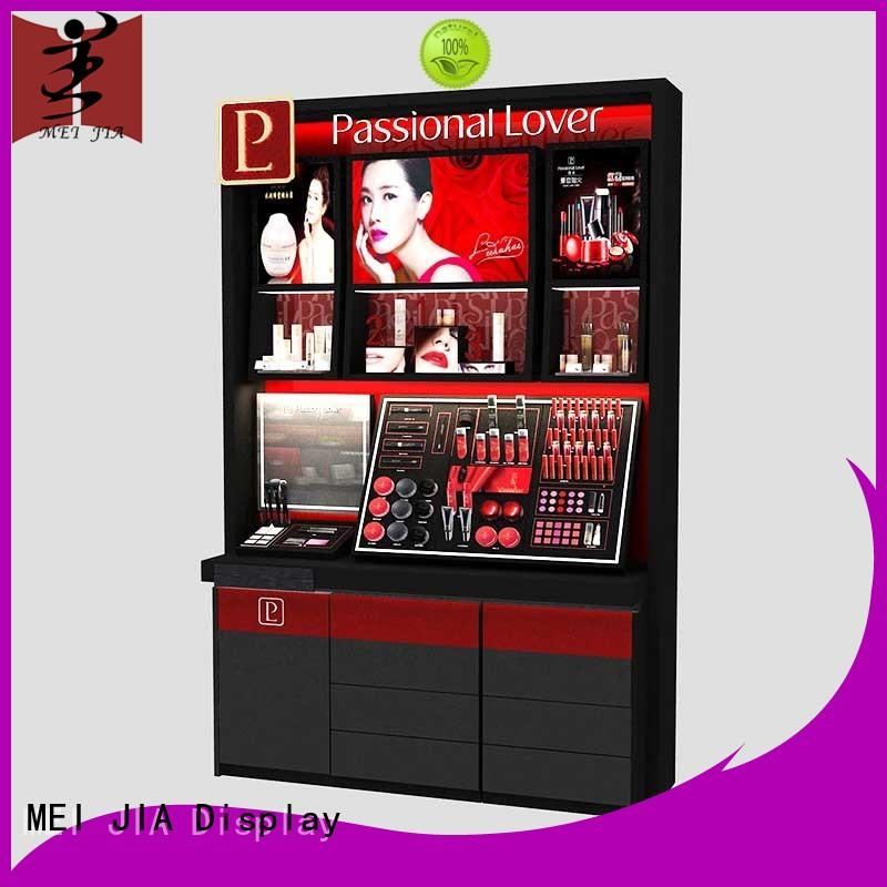 skin acrylic makeup display cosmetics for exclusive shop MEI JIA Display