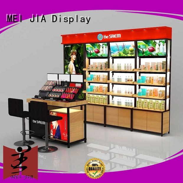 New beauty display units wood manufacturers for store