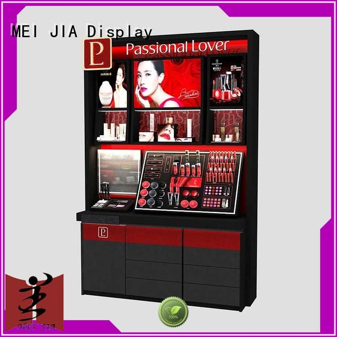 MEI JIA Display acrylic makeup display stand with hook for counter