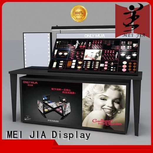 MEI JIA Display cosmetic makeup display shelves manufacturer for showroom