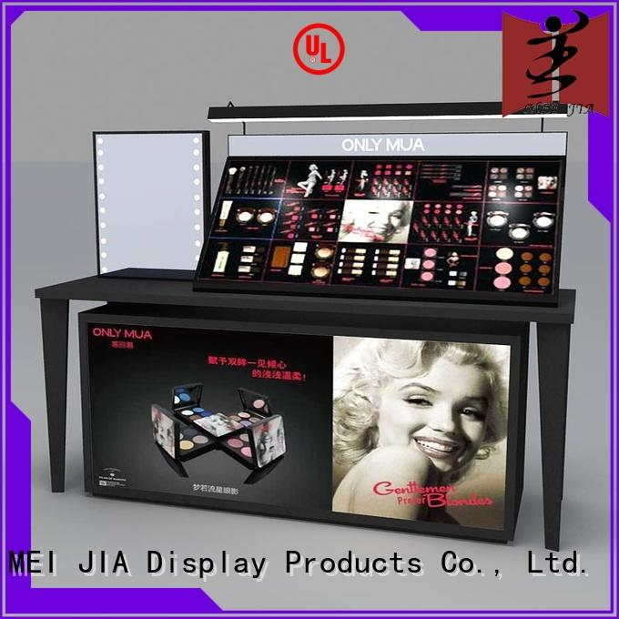 MEI JIA Display beauty retail makeup display stand manufacturer for store