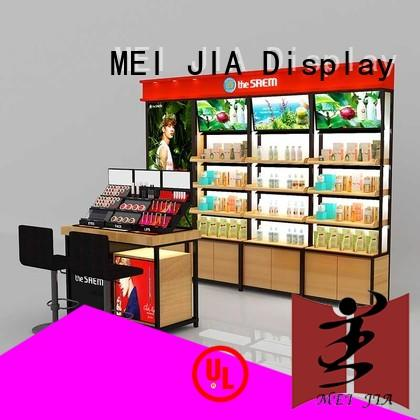MEI JIA Display retail acrylic cosmetic display stand manufacturer for exclusive shop